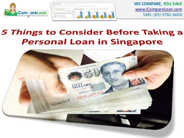 5 Things To Consider Before Taking A Personal Loan In Singapore - 웹