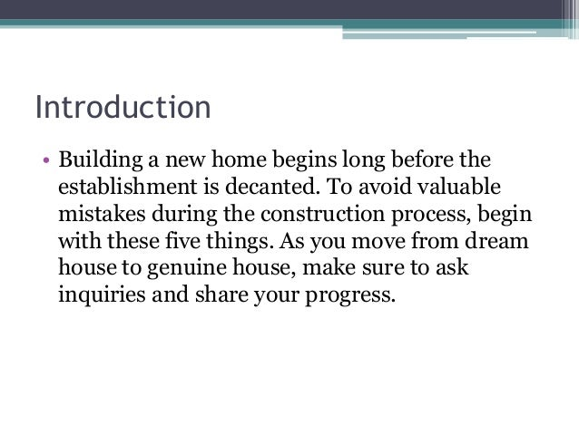 5 things to consider when building a new home for Features to consider when building a new home