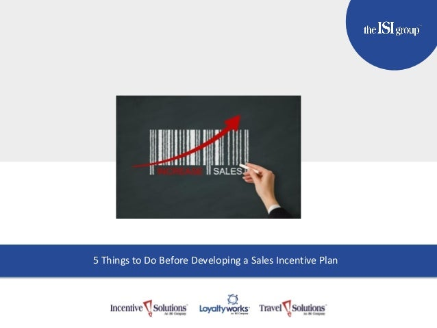 TITLE GOES HERE Subtitle Here 5 Things to Do Before Developing a Sales Incentive Plan