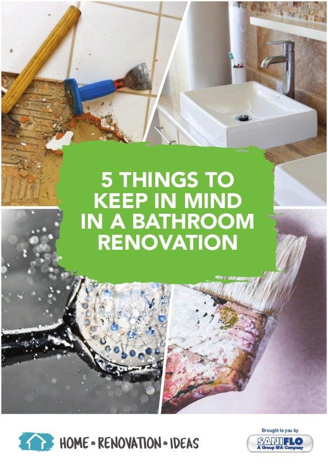 Bathroom Renovation Ideas - Top 5 Things to Keep in Mind