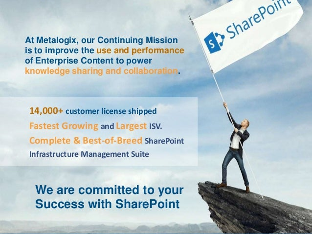 5 Things to Know Before Migrating to SharePoint 2013, OneDrive for Business, or SharePoint Online Slide 3