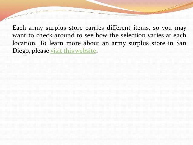 5 Things To Look For In An Army Surplus Store