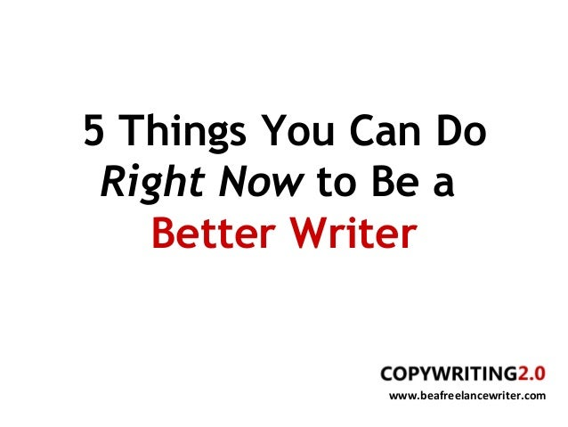 essays about becoming a better writer