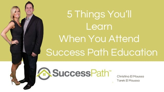 Christina El Moussa Tarek El Moussa Success Path Education 5 Things You'll Learn When You Attend