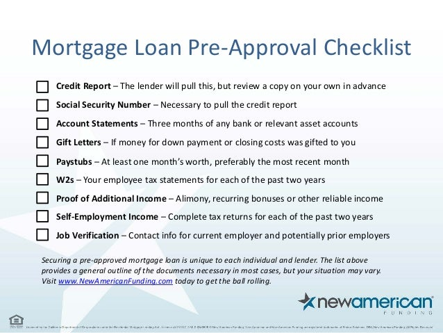 5 Things You Need To Be Pre-Approved For A Mortgage Loan - New Americ…
