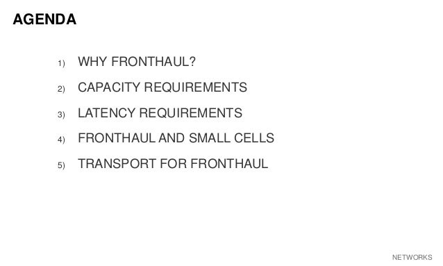 5 Things You Should Know About Fronthaul Slide 2