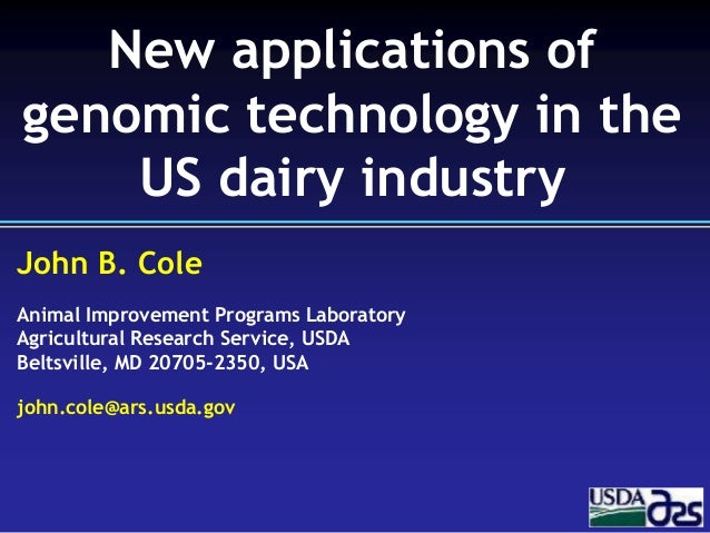 John B. Cole Animal Improvement Programs Laboratory Agricultural Research Service, USDA Beltsville, MD 20705-2350, USA joh...