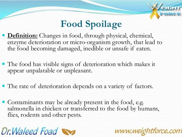 5th lecture food spoilage overview for Cuisine meaning