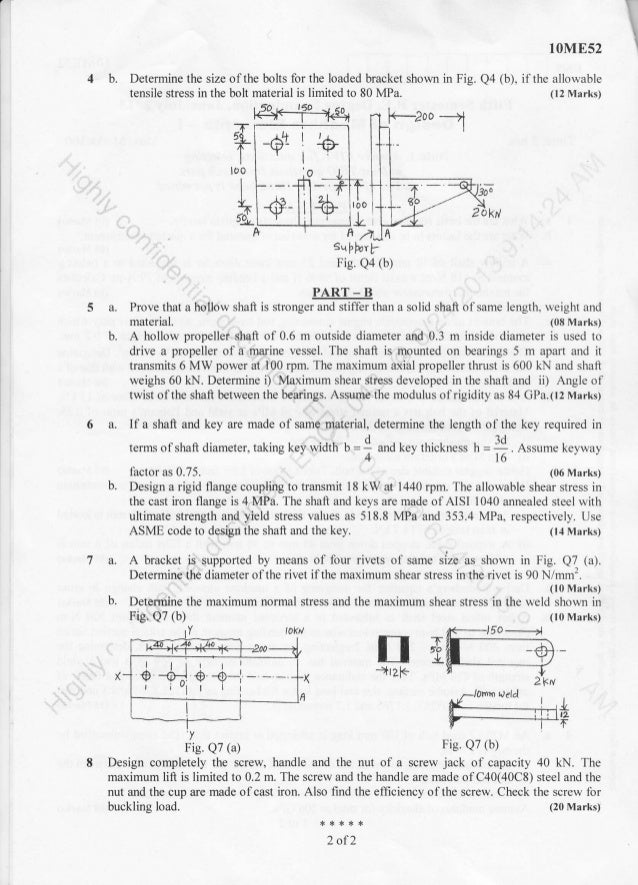 5th Semester Mechanical Engineering (2013-June) Question Papers