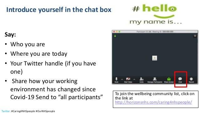 #Caring4nhspeople virtual wellbeing webinar 6 May 2020 Slide 2