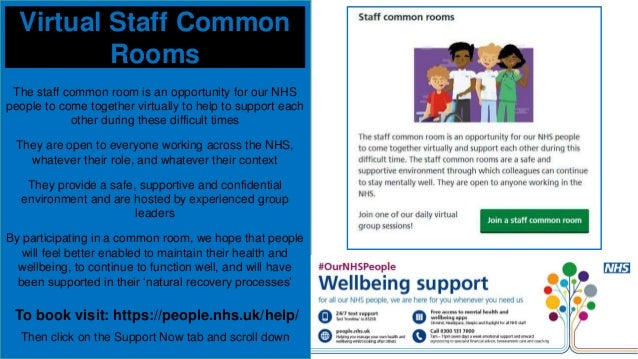 #Caring4nhspeople virtual wellbeing webinar 6 May 2020 Slide 3