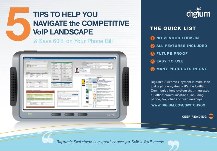 5   TIPS TO HELP YOU    NAVIGATE the COMPETITIVE    VoIP LANDSCAPE    & Save 60% on Your Phone Bill                       ...