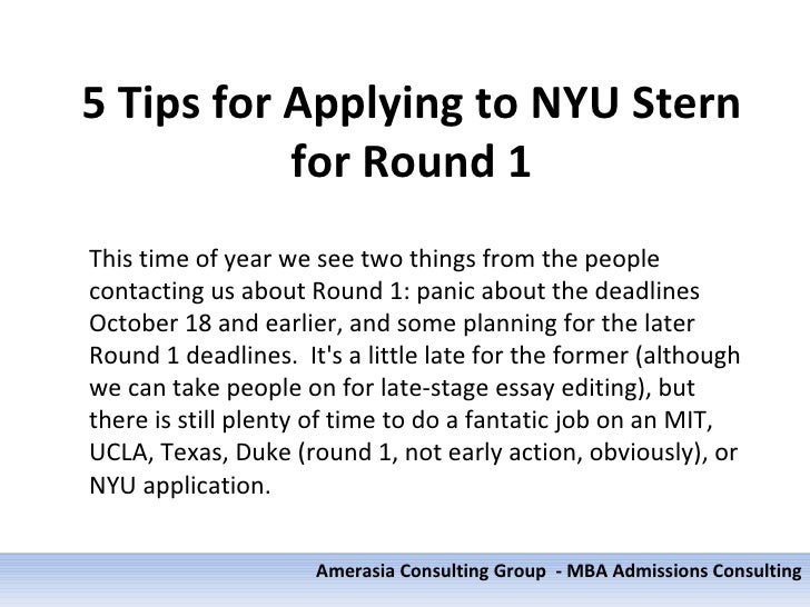 Nyu stern mba application essays