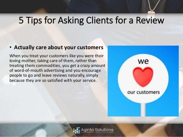 how to ask for tripadvisor reviews