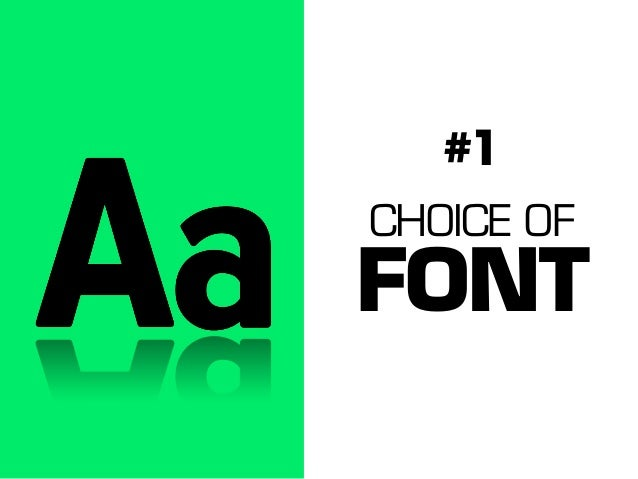 #1 CHOICE OF  FONT