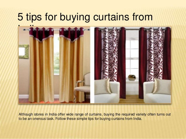 5 tips for buying curtains from india