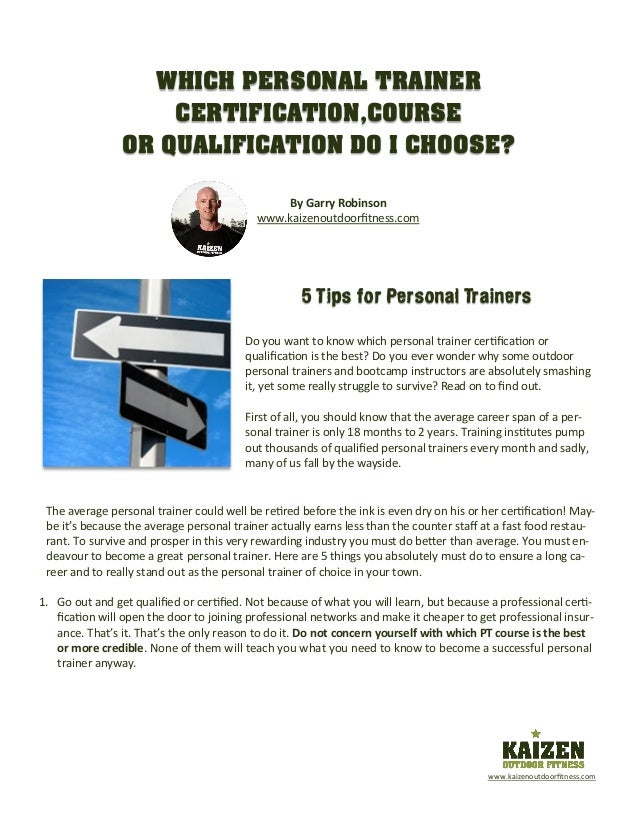 5 Tips For Personal Trainers