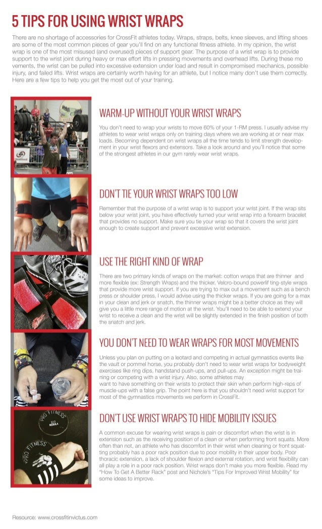 5 tips for using wrist wraps