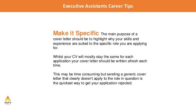 executive assistant career tips 5 tips for writing a winning cover letter 1 executive assistants career