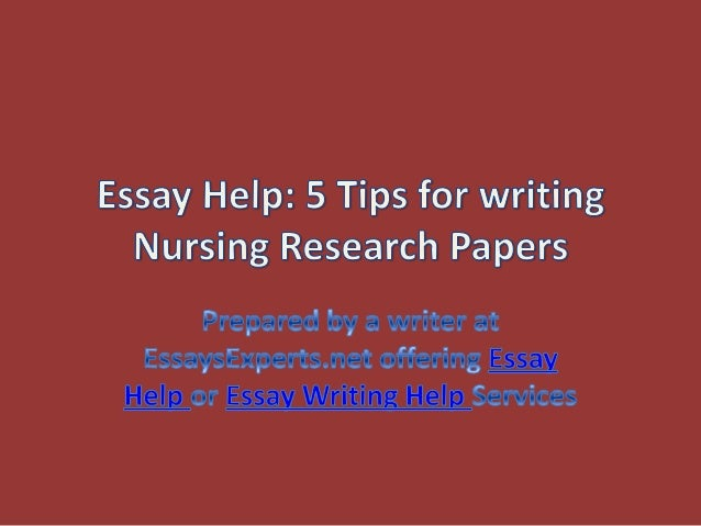 Help with nursing essay