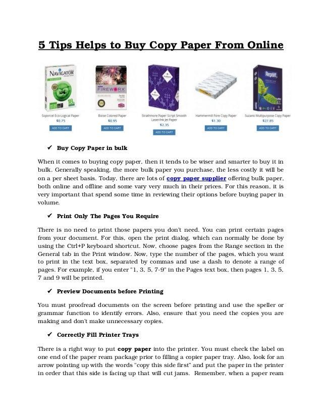 Wholesale Copy Paper Manufacturers