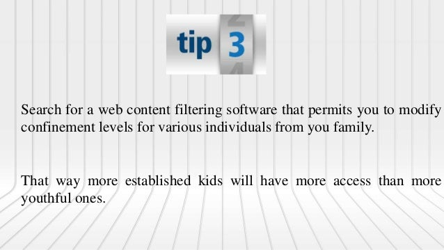 Search for a channel that gives you web access time controls. Along these lines the web can't be utilized a specific times...