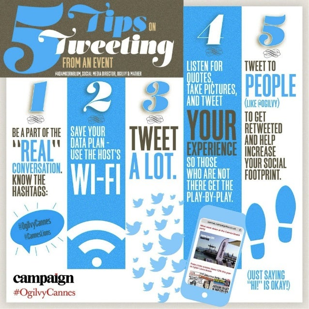5 Tips on Tweeting from an Event like #CannesLions #OgilvyCannes