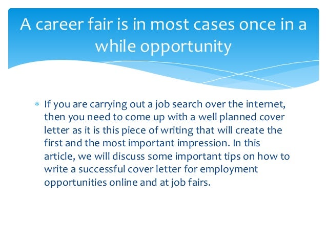 cover letters for job fairs