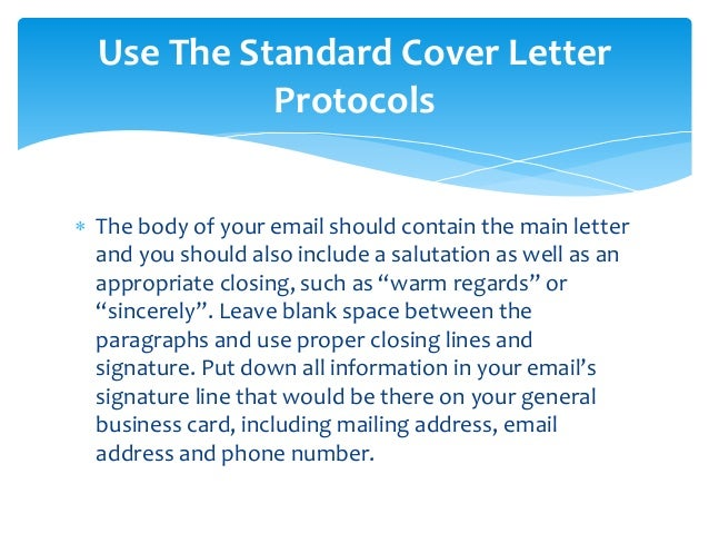should you include cover letter in body of email - Should You Include A Cover Letter