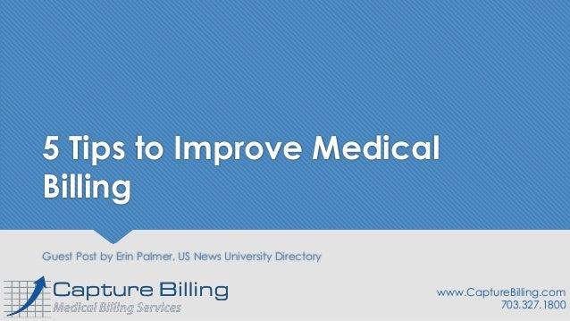 5 Tips to Improve Medical Billing