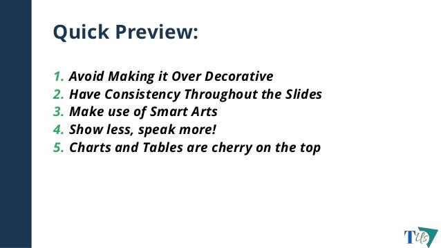 6 tips for creating an effective powerpoint presentation.