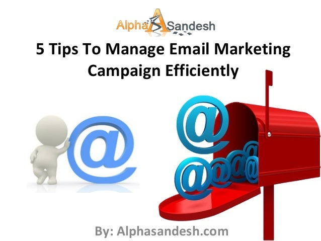 5 Tips To Manage Email Marketing Campaign Efficiently By: Alphasandesh.com
