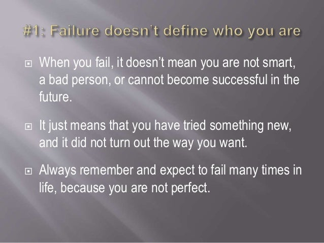 5 tips to overcome failure Slide 2