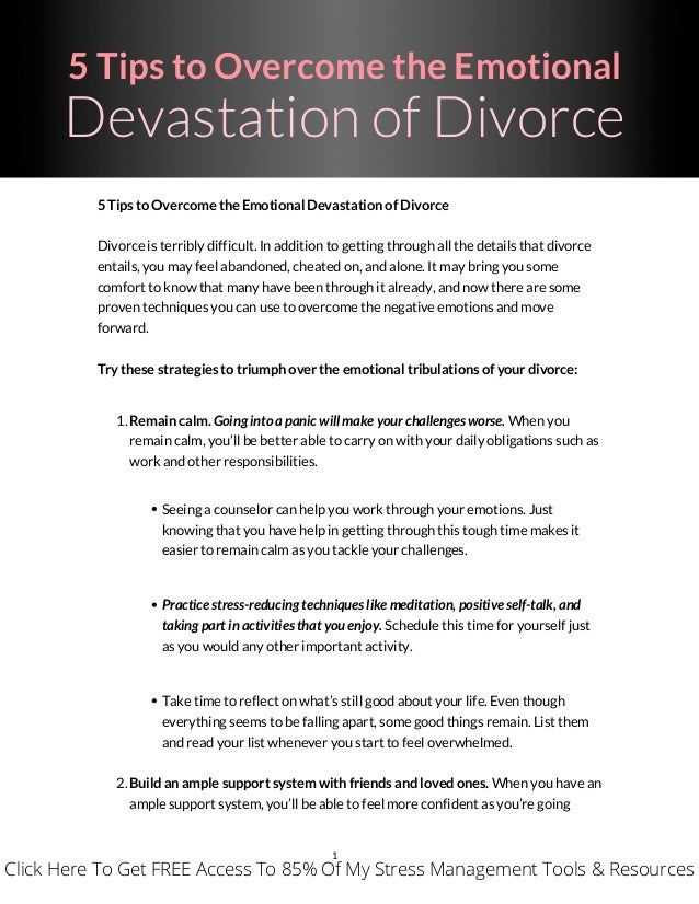A Emotionally Divorce How Get To Through