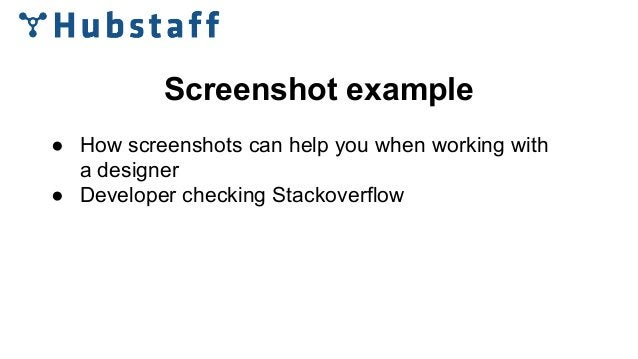 Screenshot example ● How screenshots can help you when working with a designer ● Developer checking Stackoverflow