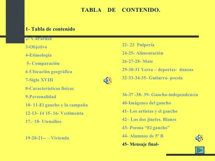 1- Tabla de contenido 2- Carátula 3-Objetivo 4-Etimología  5- Comparación 6-Ubicación geográfica 7-Siglo XVIII 8-Caracterí...
