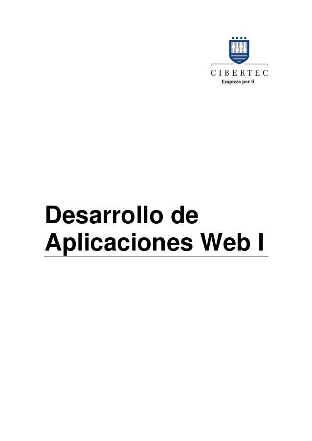 Desarrollo deAplicaciones Web I