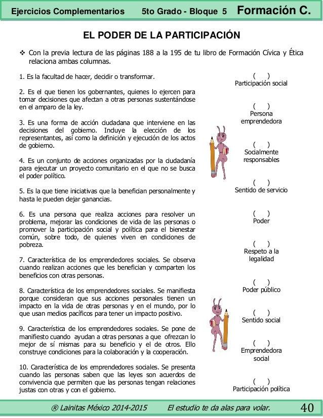 5to grado bloque 5 - ejercicios complementarios