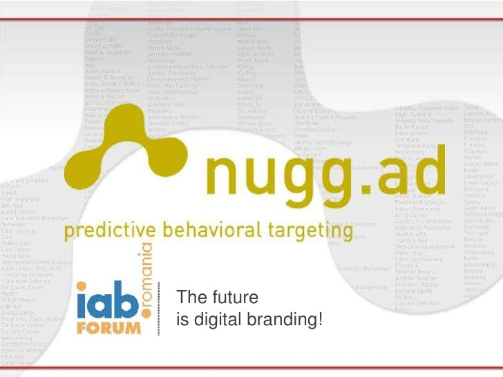 The future                                                                           is digital branding!nugg.ad | predict...