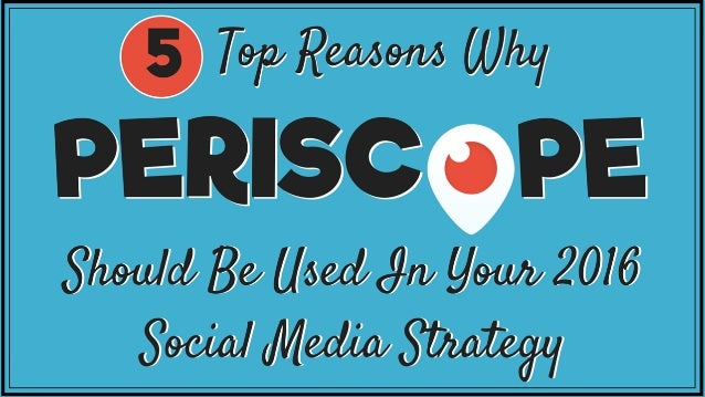 For those who own their own business, I want to encourage you to make Periscope, and/or live streaming in general, part of...