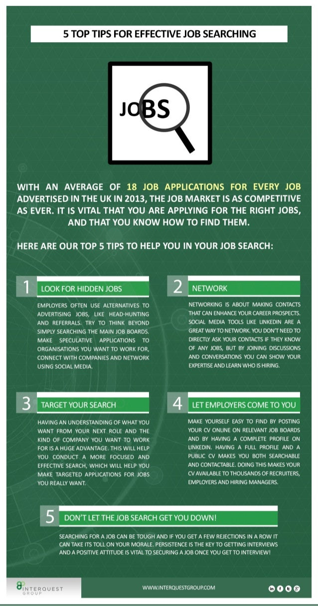 Job Searching: 5 Top Tips for Effective Job Searching