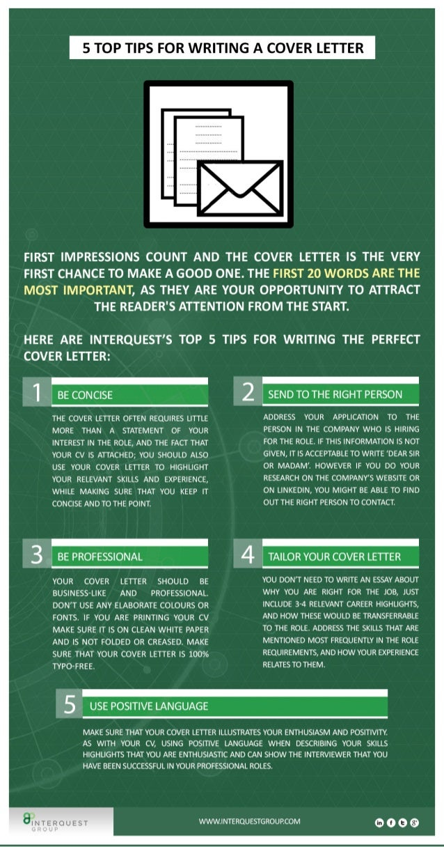CV Writing: 5 Top Tips for Writing a Cover Letter