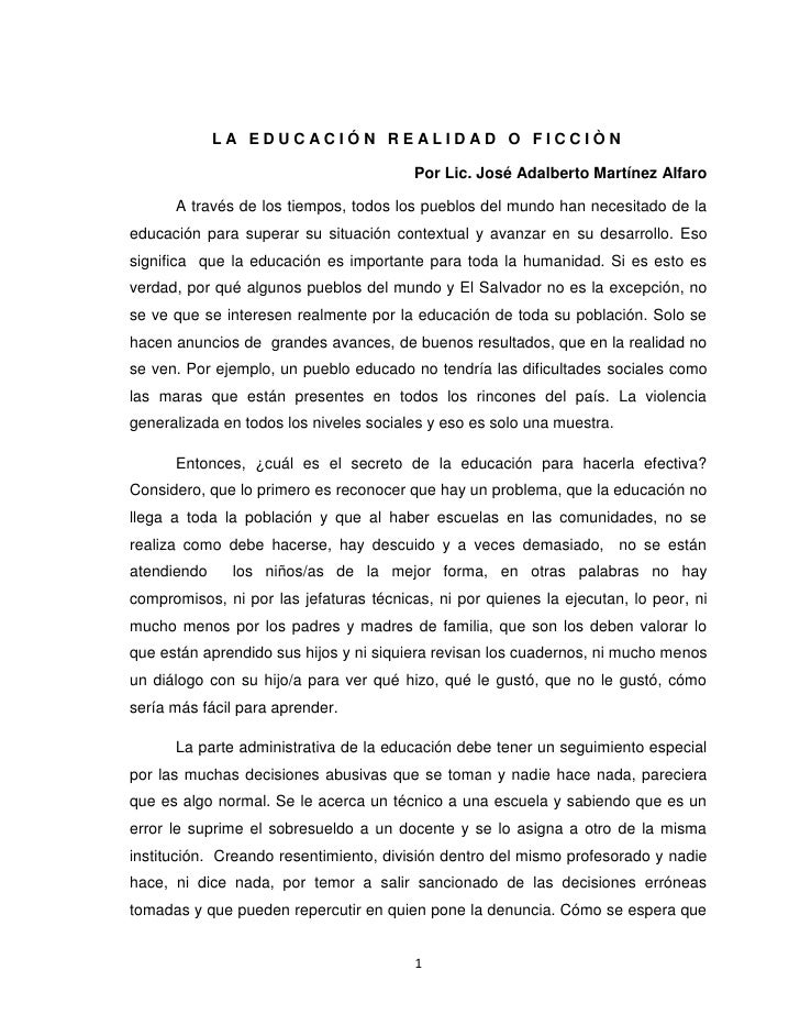 5°  trabajo artículo  sobre  educación