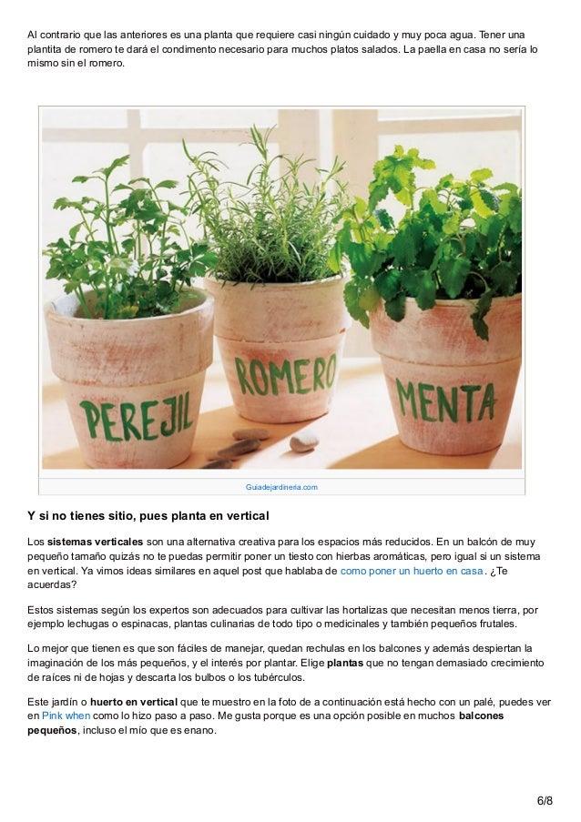 5 trucos para poner un huerto en el balc n for Que plantas se siembran en un huerto