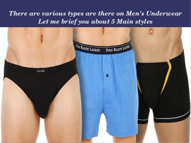 5 types of men's underwear