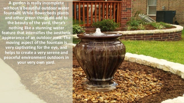 5 Types Of Outdoor Water Fountains That Enhance The Beauty OF Your Backyard;  2.