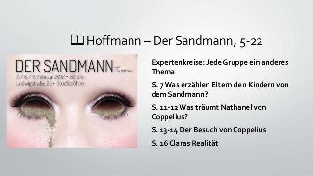 📖 Hoffmann – Der Sandmann, 5-22 Expertenkreise: Jede Gruppe ein anderes Thema S. 7 Was erzählen Eltern den Kindern von dem...