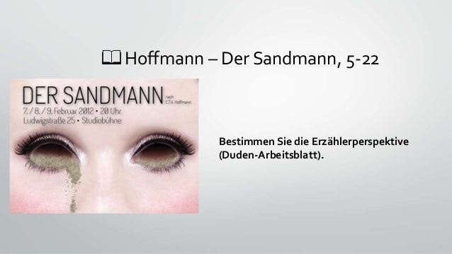 📖 Hoffmann – Der Sandmann, 5-22 Bestimmen Sie die Erzählerperspektive (Duden-Arbeitsblatt).