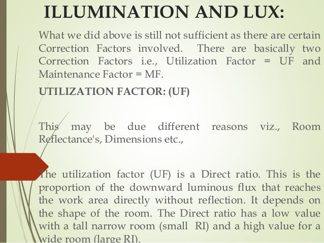 Formula For Lighting Lux Calculation
