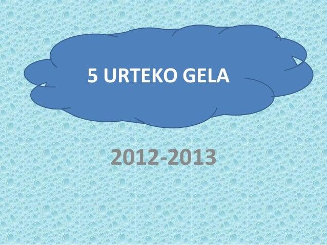 2012-20135 URTEKO GELA